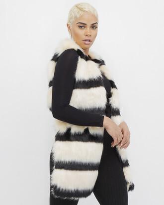 jacket vest faux fur faux fur vest