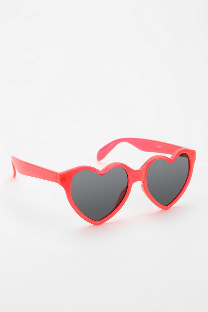 Bisou Heart Sunglasses - Urban Outfitters