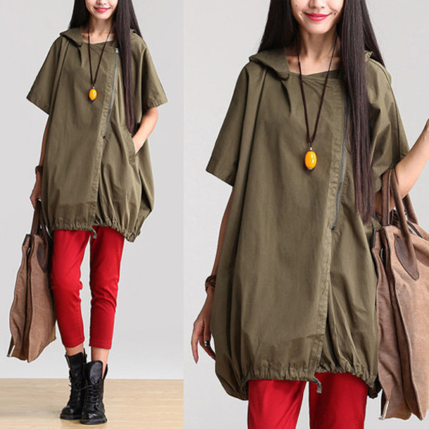 jacket hooded sleeve jacket army green army green jacket