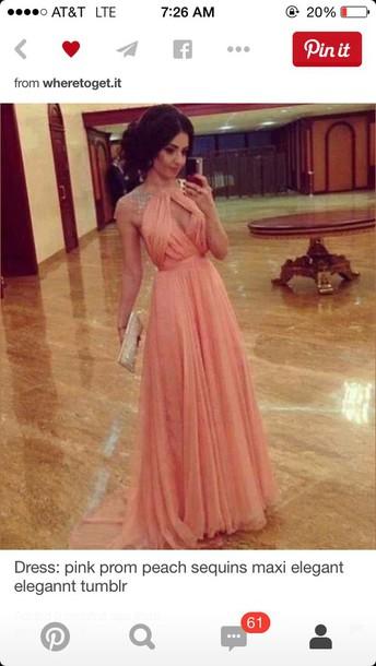 dress pink dress halter neck