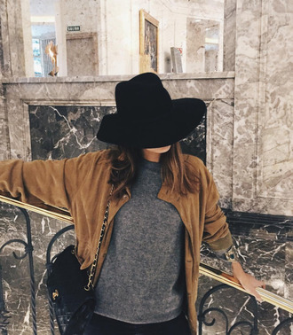 jacket leather brown seude beautiful musthave spring fall outfits new girl amazing pretty tumblr instagram twitter blogger blog youtube bomber jacket