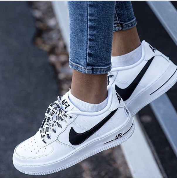 d0b57e9d5bd5 shoes white sneakers nike shoes air max white black trim nike air force 1  nike nike