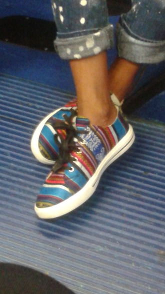 shoes tribal pattern sneakers