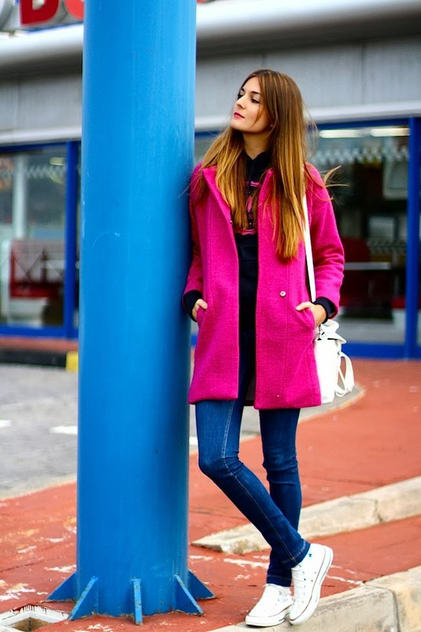 marilyn's closet blog sweater coat bag jeans shoes