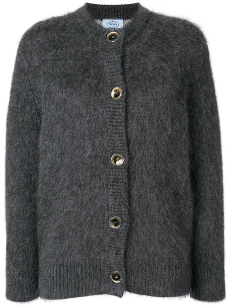 Prada cardigan cardigan women mohair wool grey sweater