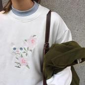 sweater,pullover,top,cat embroidery,cats,vintage,retro,korean fashion,ulzzang,asian fashion,harajuku,pastel,mori girl,japanese fashion shop,korean fashion shop,long sleeves top,white long sleeves top,sweatshirt,cat sweatshirt,cat hoodie,embroidered,embroidered sweatshirt,embroidered jumper,embroidered pullover,dejavucat