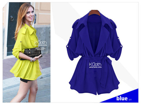 Kcloth short coat with big collar o132