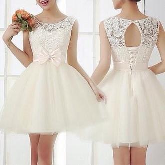 dress swirls party dress up cream vintage