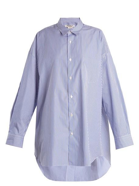 Junya Watanabe shirt oversized cotton navy top
