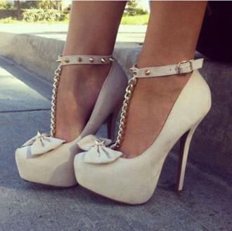 shoes beige shoes high heels