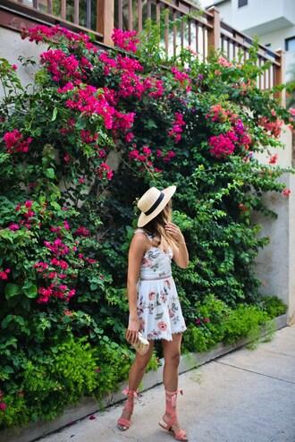 cuppajyo blogger dress shoes hat bag mini dress summer dress summer outfits sandals flat sandals