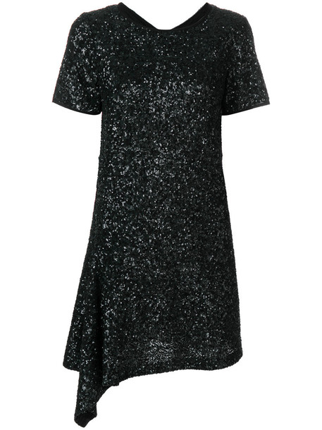 Zadig & Voltaire dress women cotton black silk sequins
