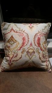 home accessory,pillow,sofa pillow,mustard,green,grey,paisley