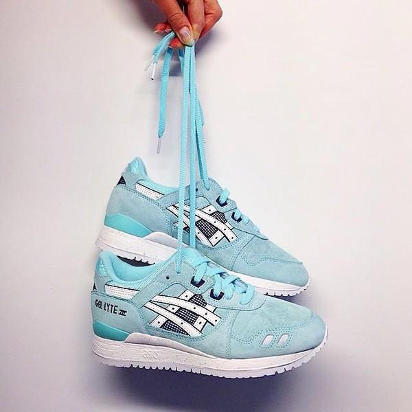 asics gel lyte 3 blue tint/white pas cher