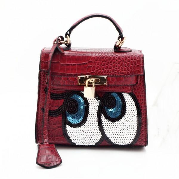 Angel eyes handbag