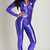 Purple Wet Look Catsuit
