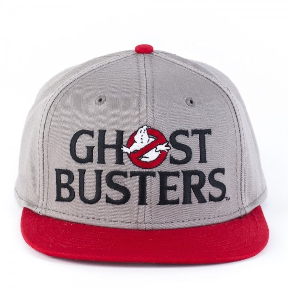 d2c082b77de Ghostbusters Logo Gray Red Flat Brim Baseball Cap Hat Snap Back ...