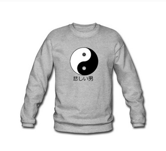 sweater japan japanese guys people great grey menswear grey sweater yin yang