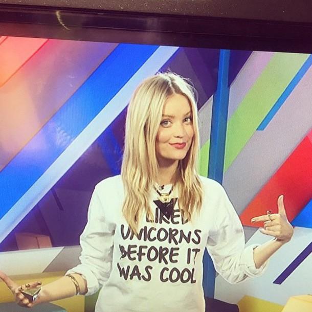 sweater unicorn laura whitmore batoko www.batoko.com unicorn hipster fashion