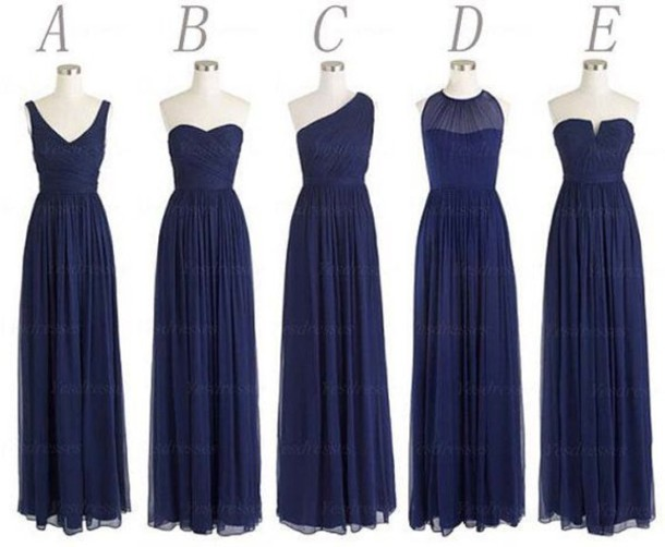 dress navy bridesmaid