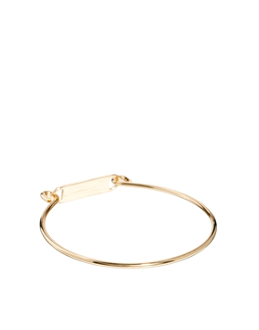 ASOS | ASOS Pack of Naughty & Nice ID Fine Bangles at ASOS