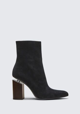 shoes alexander wang high high heels boots booties black boots boots suede booties