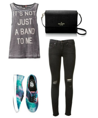 band t-shirt washed-out grey t-shirt hipster kate spade
