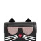 K kocktail cat faux leather shoulder bag