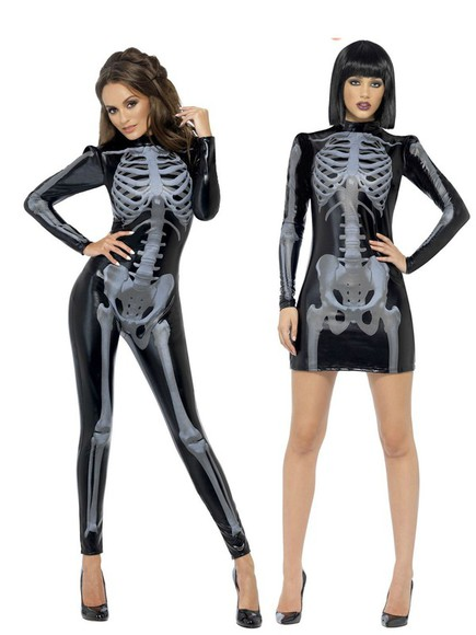 halloween skull skeleton skull t-shirt halloween costume pvc outfir halloween accessory halloween party halloween makeup pvc catsuit pvcleggings leather leather dress leather jumpsuit party dress skeleton print xray sexy dress seductive dominatrix