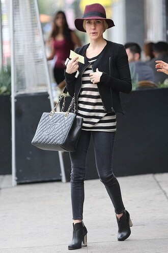 hat streetstyle kristin cavallari fall outfits shoes