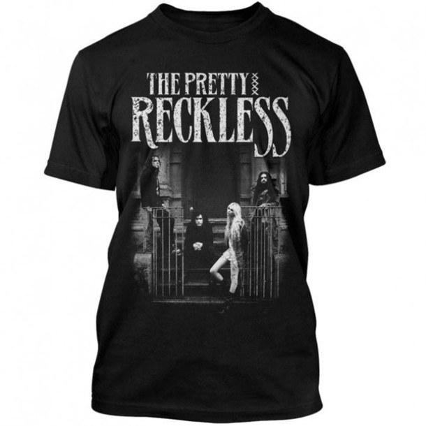 shirt the pretty reckless band t-shirt taylor momsen black