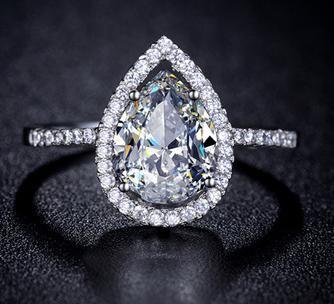 Teardrop engagement ring by mir