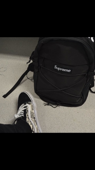 shoes black vans cute hot supreme summer kim kardashian kardashians nude white backpack black backpack