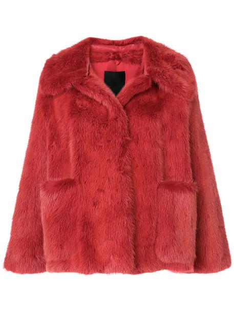 Liska jacket fur jacket fur women yellow orange