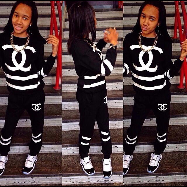 Chanel tracksuit black
