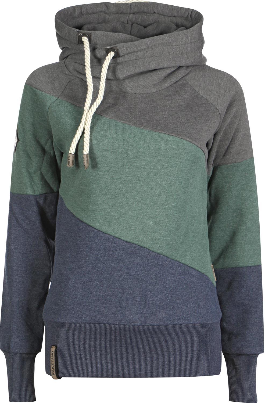 Naketano bronson reloaded ii w hoodie blue green grey