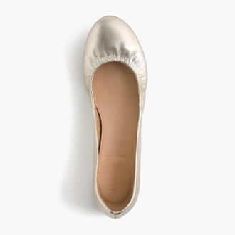 shoes ballet flats accessories business casual metallic shoes j crew