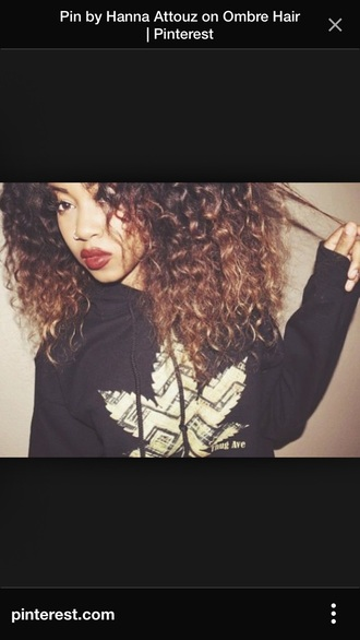 weed sweater weed fashion dope sweater curly hair natural hair beauiful fall sweater fall outfits red lipstick