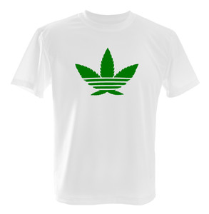 Cannabis Weed Adidas T-Shirt 100% Soft Cotton Shirt | eBay