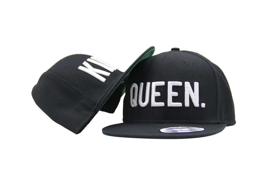 KING and QUEEN Snapback Pair Fashion Embroidered Snapback Caps Hip-Hop Hats