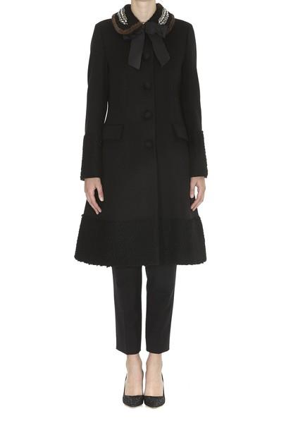 gucci coat bow black