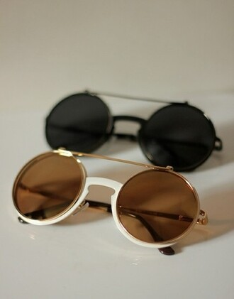 sunglasses vintage dope sick beautiful 90s style love it new fashion fashion killa sun round sunglasses gold sunglasses black sunglasses white sunglasses