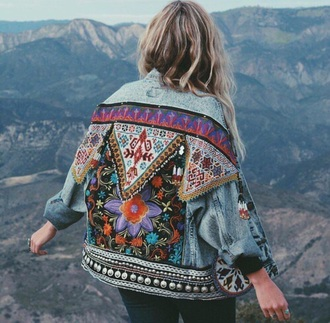 jacket embroidered jacket denim jacket