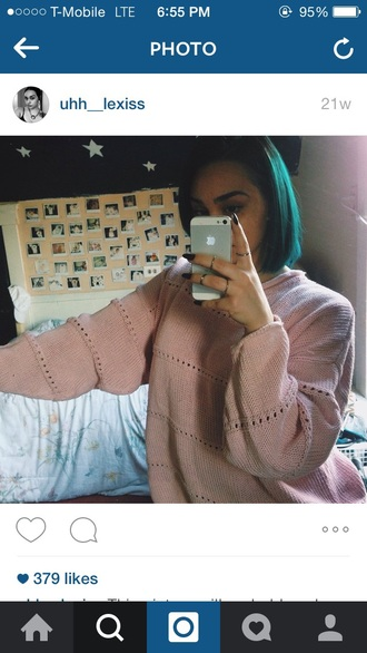sweater pastel goth pink dress style