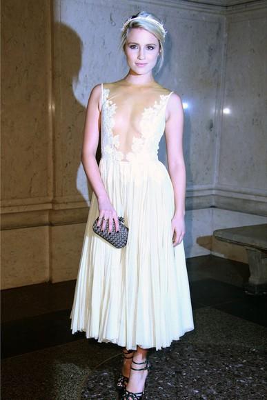 dianna agron dress prom dress