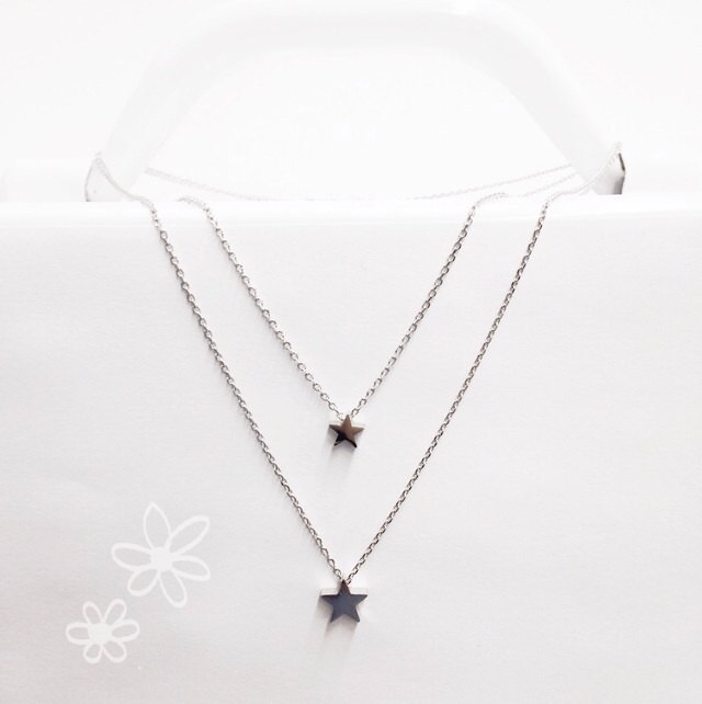 Star necklace, star pendant , minimalist necklace, dainty necklace, gifts under 20, layering necklace, tiny star