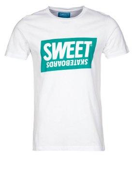 Sweet Skateboards OFFICIAL BASE - Print T-shirt - white - Zalando.co.uk