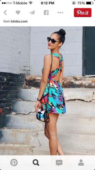 dress multicolor short