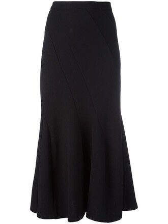 skirt women black wool