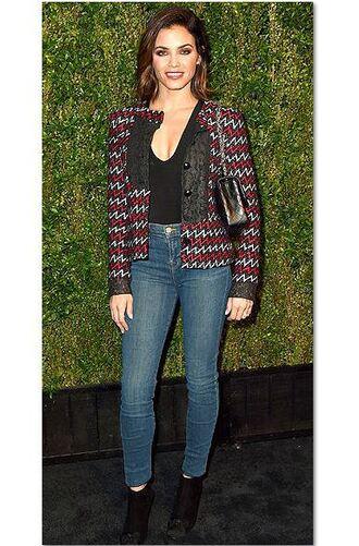 jeans top skinny jeans jenna dewan blazer jacket fall outfits